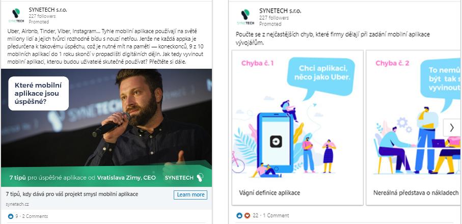 LinkedIn kampaně pro Synetech